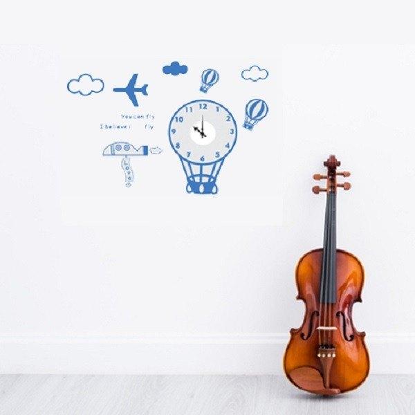 《Smart Design》創意無痕壁貼◆氣球時鐘(機芯)