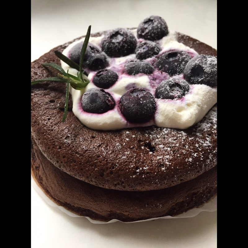 藍莓巧克力無麩質蛋糕
