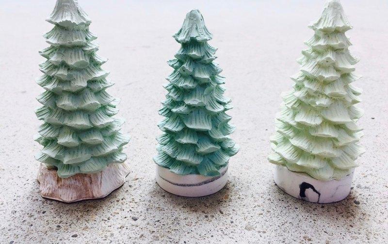 立體聖誕樹擴香石-手作細工 耶誕系列 送禮首選 交換禮物首選