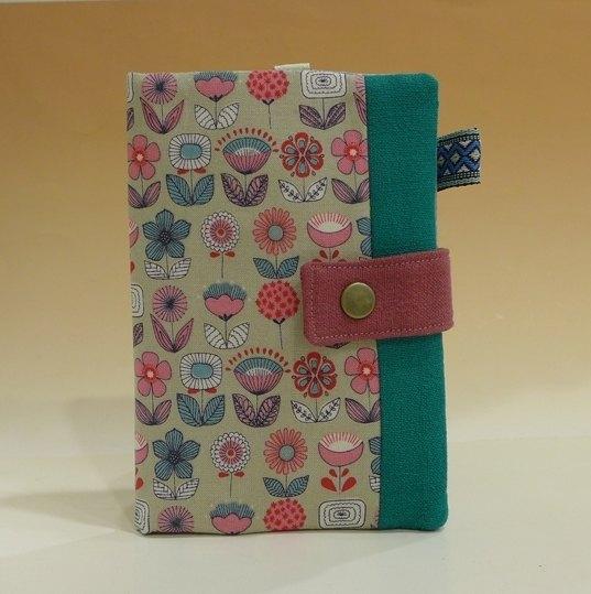 多功能護照夾/長布夾*北歐的花朵*