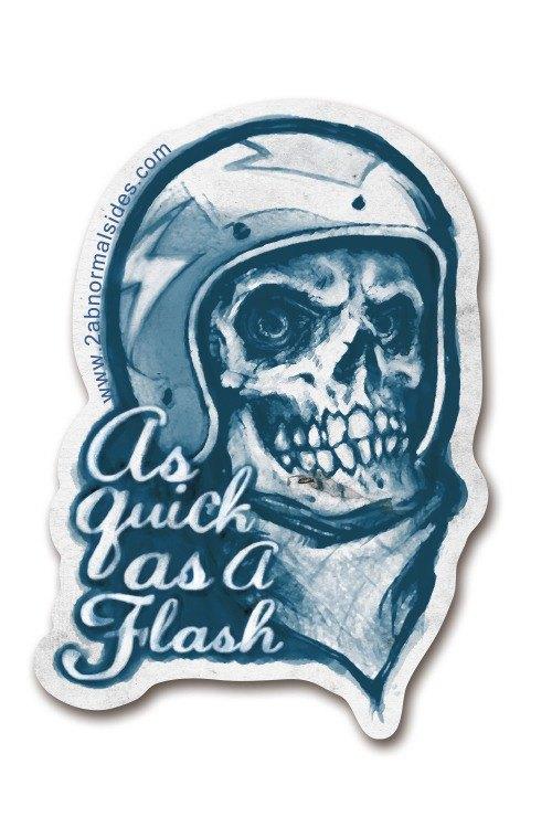 Helmet Skull 2AS Brand Sticker 安全帽骷髏2AS品牌防水抗UV貼紙