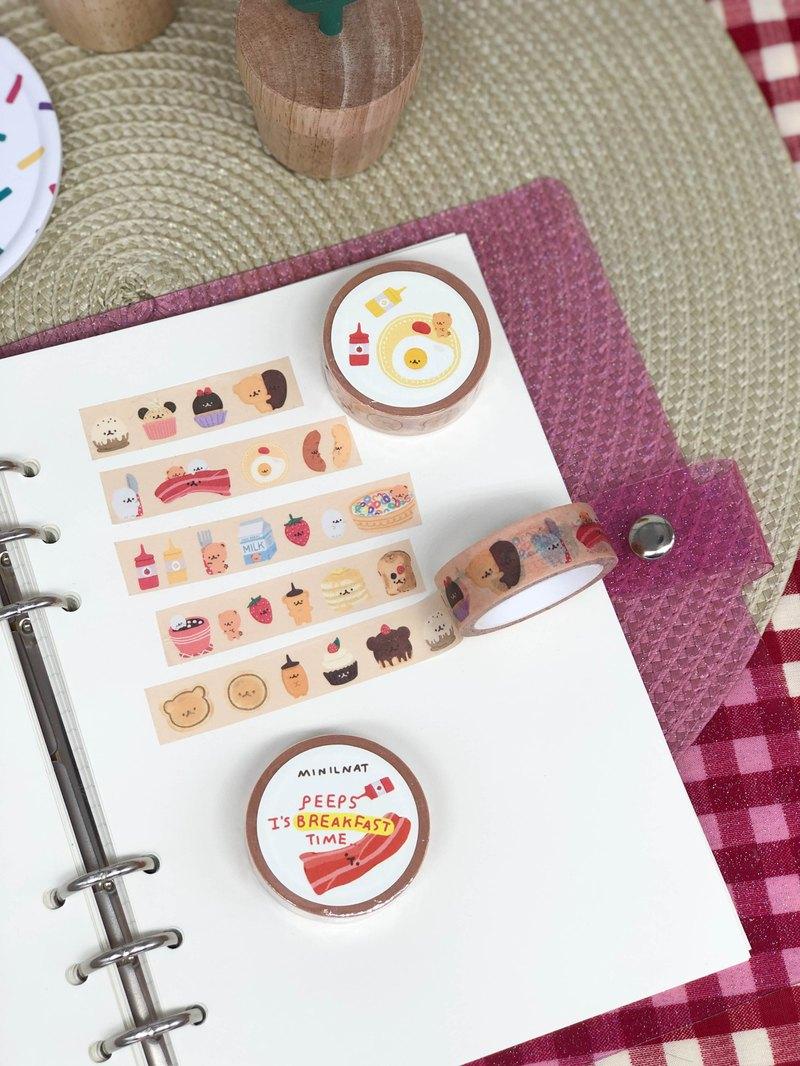 美紋紙膠帶是早餐時間!