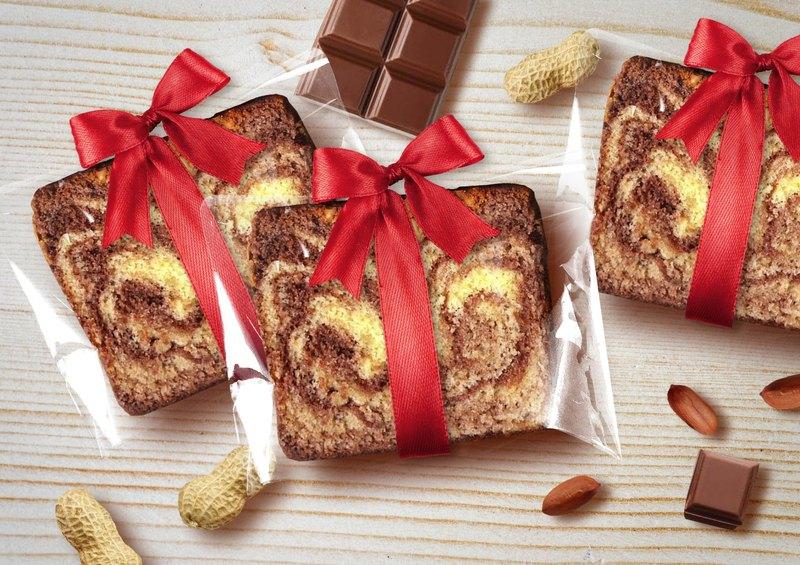 【桃德先生手工布朗尼專賣】緞帶-花生巧克力磅蛋糕
