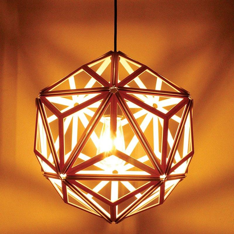 【新品】QUALY 三角幾何-燈罩(鏤空白)