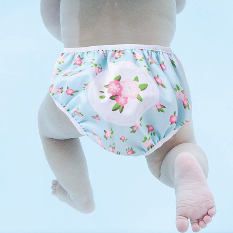 S1 Swimava小花朵朵嬰兒游泳尿褲-L