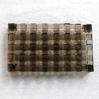 編織琉璃皂盤(茶)