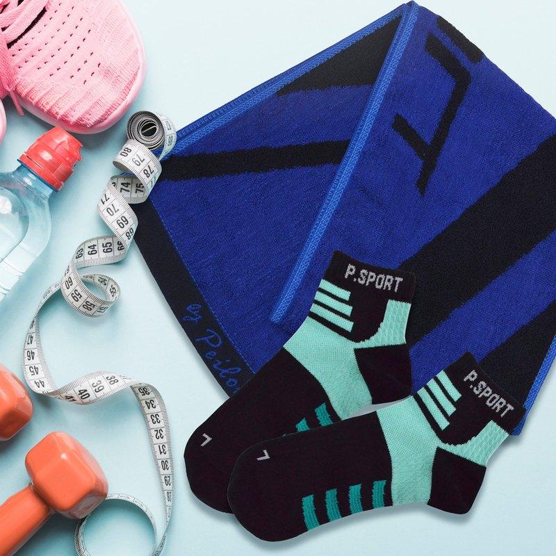 獨家 -變漂亮6件組 運動襪 運動毛巾 足弓襪 天絲棉