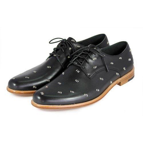 Sweet Villians M1091 手工真皮縫線德比鞋 黑色
