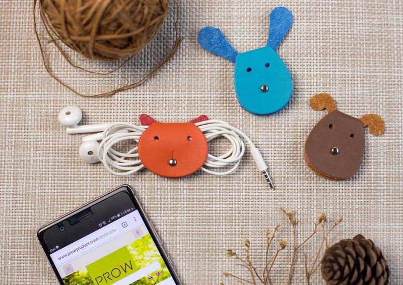 Worpi 3件套線夾套3件套貓/狗,兔子的耳機/充電器