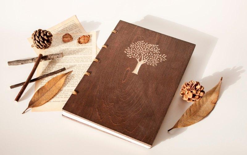樹木手工筆記本