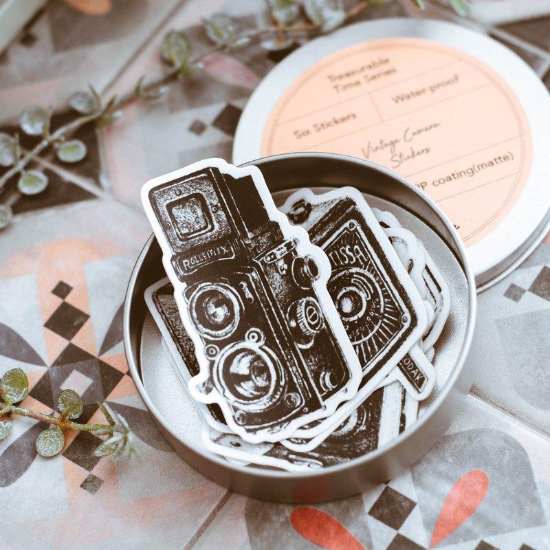 Wotime  / 珍藏時光系列 / 復古老相機底片 / 防水貼紙