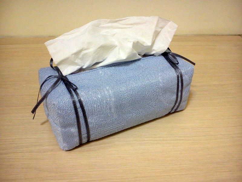 袋裝抽取式面紙套_清爽藍雙緞帶