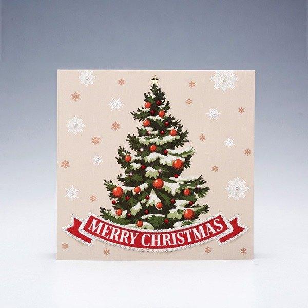 【GFSD】水鑽精品-手工賀卡-白色聖誕