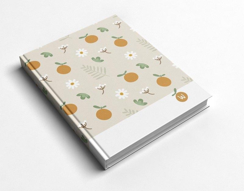 洛可可草莓 WELKIN手創_手工書/筆記本/手帳/日記本-小橘子