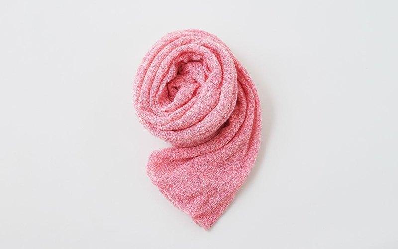 馬海毛針織亞麻粉紅色失速