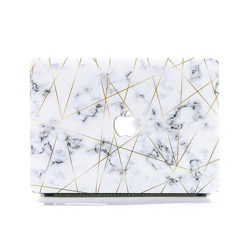 Slick Case 香港 | Golden Geometric Marble MacBook 保護殻