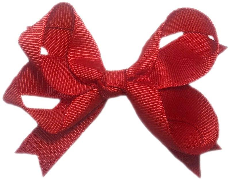 Cutie Bella 蝴蝶結全包布 手工髮飾Bow Swallow髮夾-Red