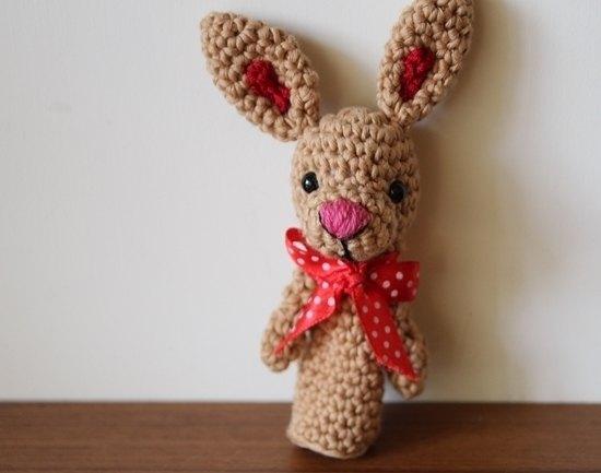 毛線娃娃, 手指娃娃, 療癒系娃娃, 兔子