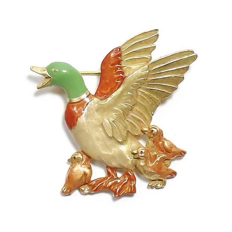 Ducks Family PB120 鴨子親子胸針