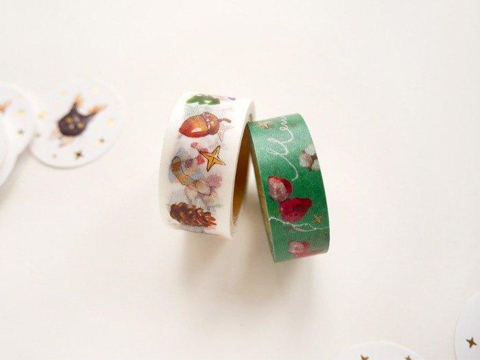 聖誕貓咪紙膠帶 共二款 聖誕優惠商品