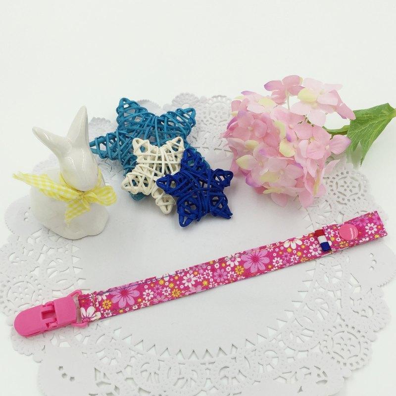 A35-手工夾式奶嘴鏈 奶嘴夾 滿月禮物 玩具鍊 可做香草奶嘴 彌月