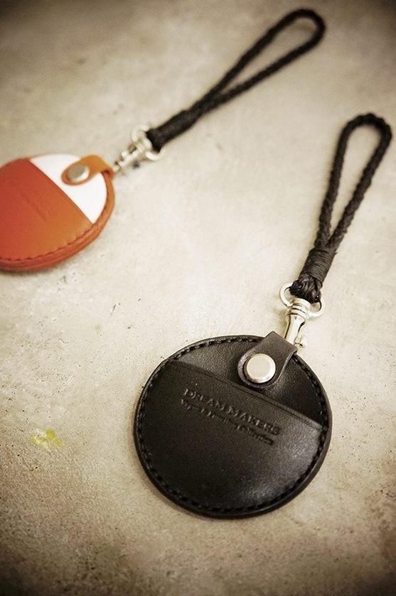 gogoro皮革鑰匙圈+手拿蠟線