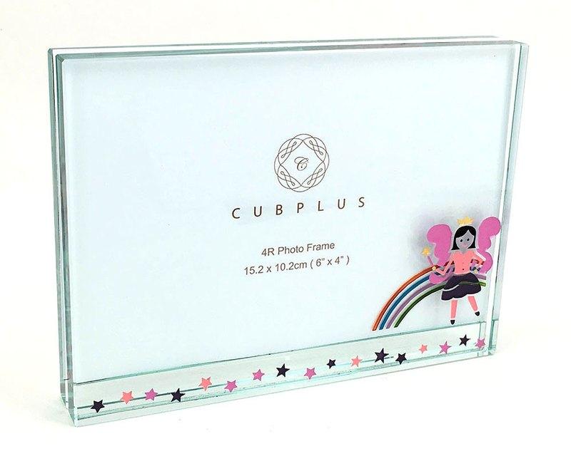 水晶玻璃4R相框 - Fairy (包鑄色名字及日子)