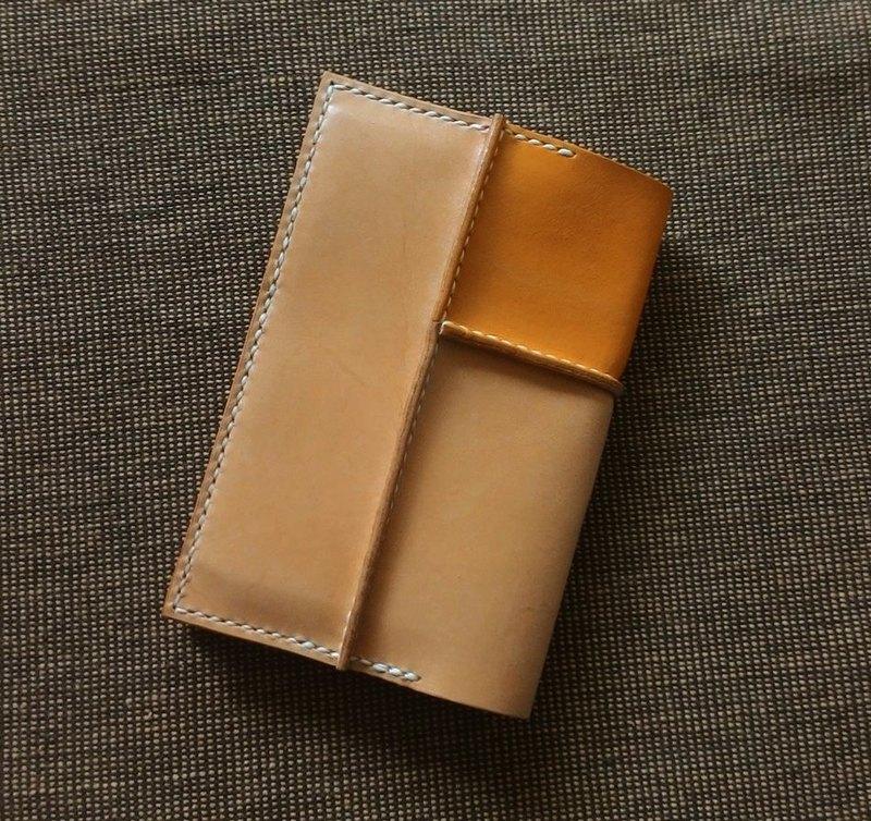 觸-皮革接縫護照套/護照夾