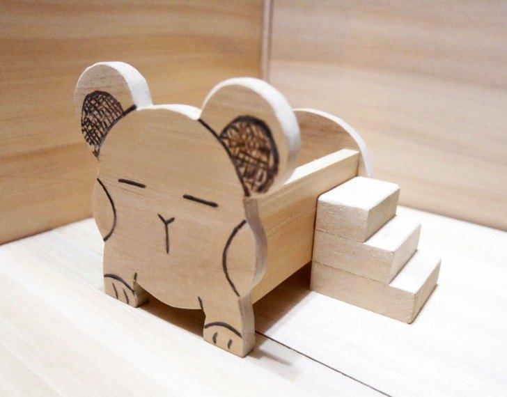 【小目工坊】-【天然呆款】時尚古錐造型 鼠床 鼠窩 鼠用品 倉鼠 寵物