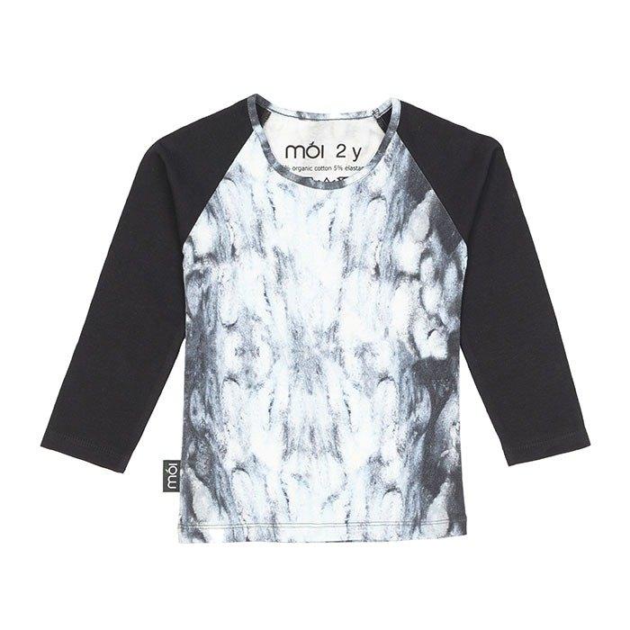 【北歐童裝】冰島有機棉長袖上衣2歲至6歲 冰川色