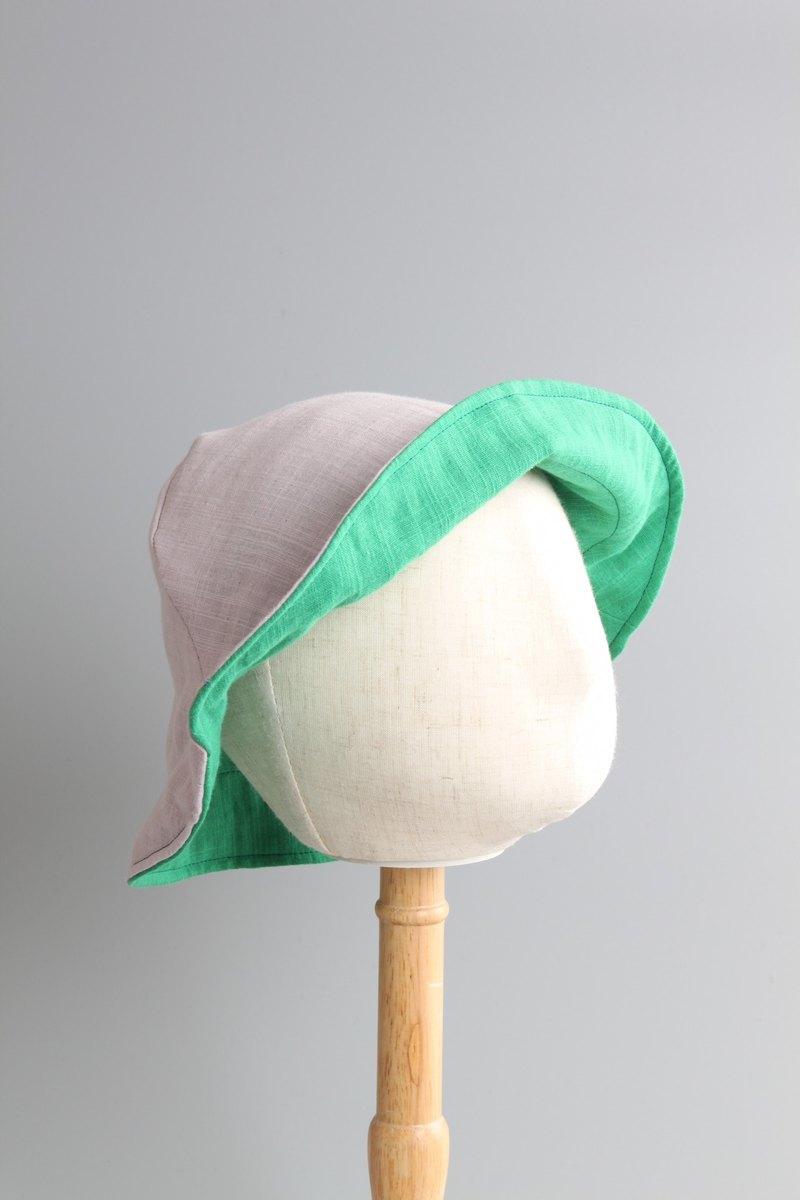 小孩系列 | 夏日雙面簡約小帽系列 | 簡單日日戴 | 綠紫