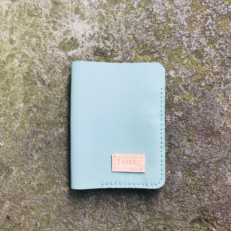 綠色 客製化護照夾 中夾 手縫皮件 聖誕禮物 嗅皮手作