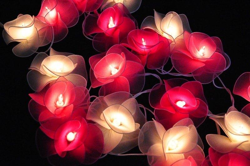 20粉色調花串燈家居裝飾Weddind部分Bedroo庭院裝飾