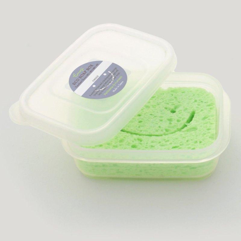 【環保旅伴】 杜松果色-氣密防水海綿皂盒