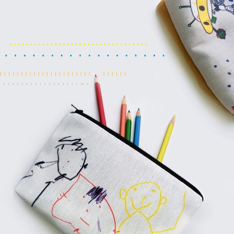 塗鴉圖畫【客製】萬用筆袋X2個  親子禮物