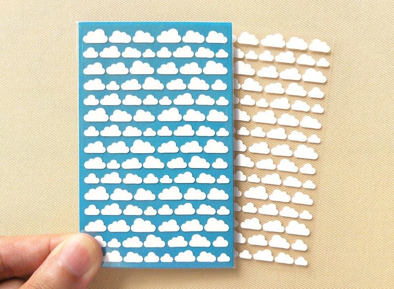 細雲朵貼紙