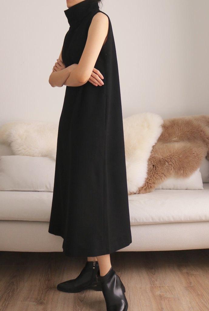 Jil Dress 極簡立領無袖直筒Cashmere羊毛洋裝 多色/可訂做