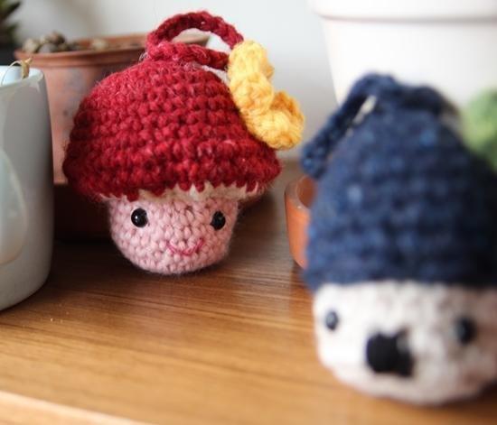 毛線娃娃, 小香菇, 香菇精靈, 吊飾