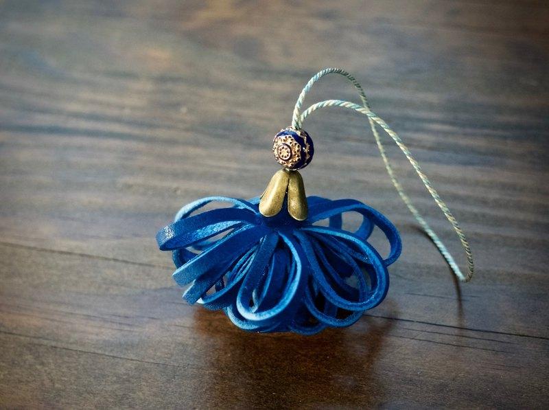 皮革流蘇夫人帆船賽藍