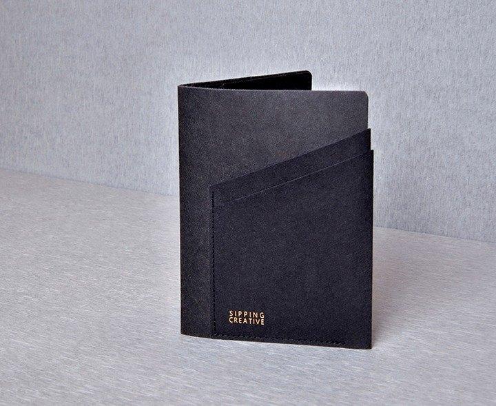 護照夾_極簡黑【可加購雷雕刻字】
