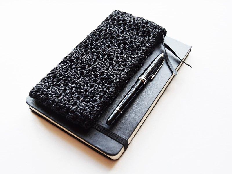 黑色修身鉛筆盒 - 黑色勾邊筆袋 - 回到學校禮品 - 小玩意案例-Teacher禮物 - 學生禮品 - 鉛筆存儲袋