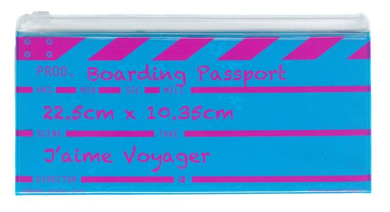 Director clap長登機護照(藍色)