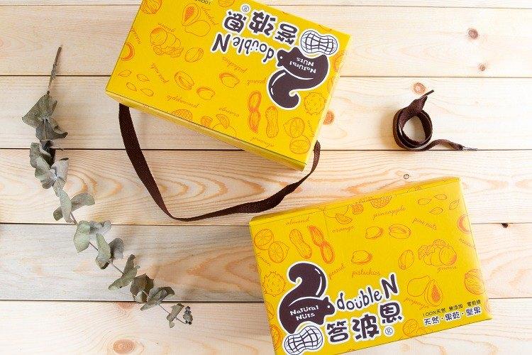 答波恩堅果果乾禮盒-低溫烘焙堅果罐裝1入+天然果乾罐裝1入