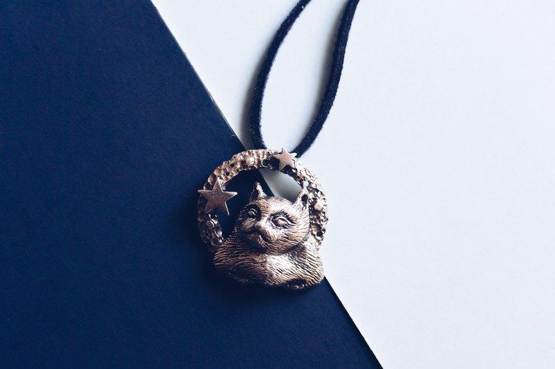 折手手喵星人-純銀項鍊 The Cat From Outer Space -925 Silver necklace