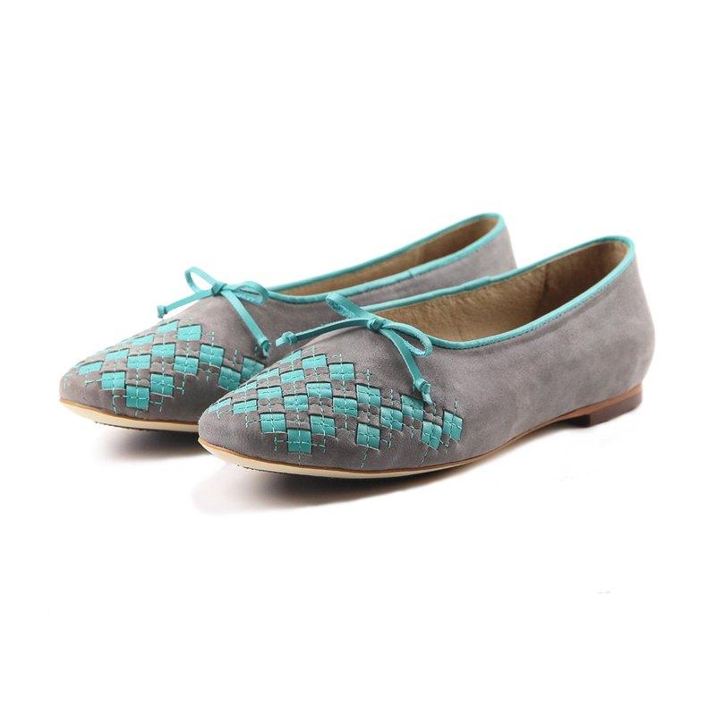 Sweet Villians W1059 手工真皮平底芭蕾舞鞋 灰色