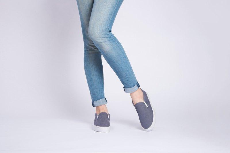 寶特瓶製休閒鞋  Tarare 復古厚底懶人鞋    牛仔藍    女生款