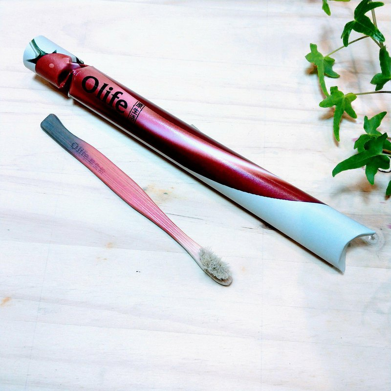 Olife原生活 天然手工兒童竹牙刷【紅辣椒】俏皮顏色造型
