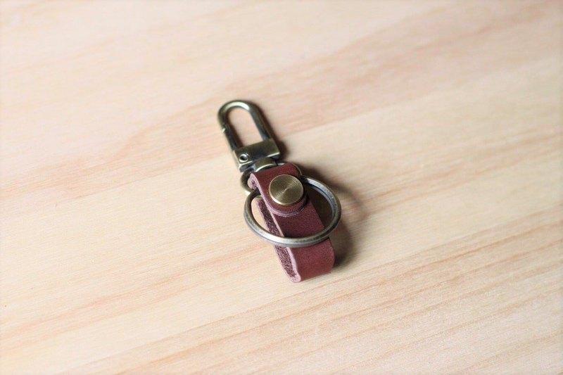 簡約款 - Gogoro 皮革鑰匙圈 (深咖啡)