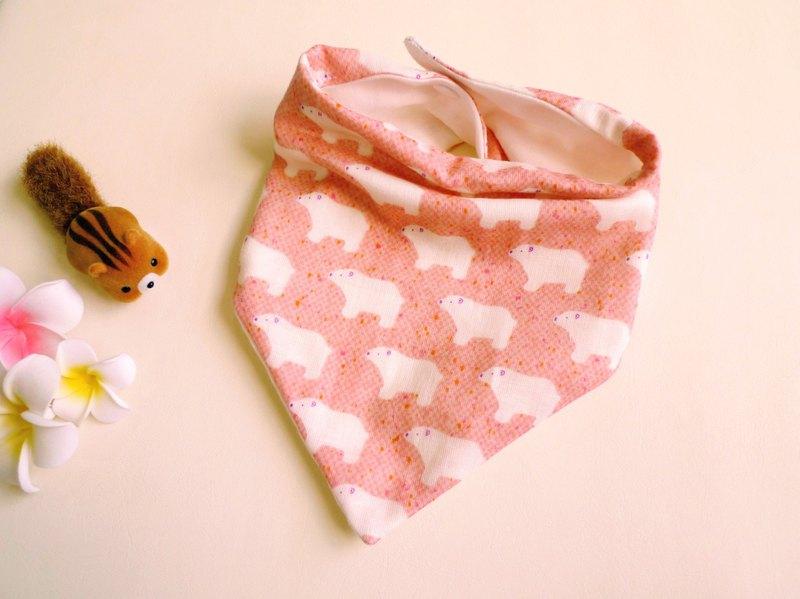 三角口水巾/圍兜-小北極熊(粉)