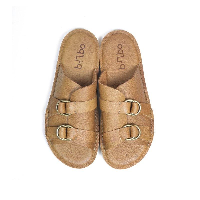 oqLiq - Root - 環扣拖鞋(梨黃)
